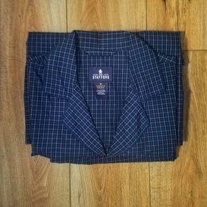 Stafford | Plaid Pajama Set Navy Men's Medium